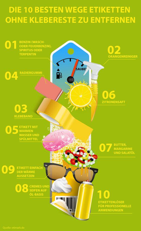 Die 10 besten Wege, Etiketten ohne Klebereste zu entfernen
