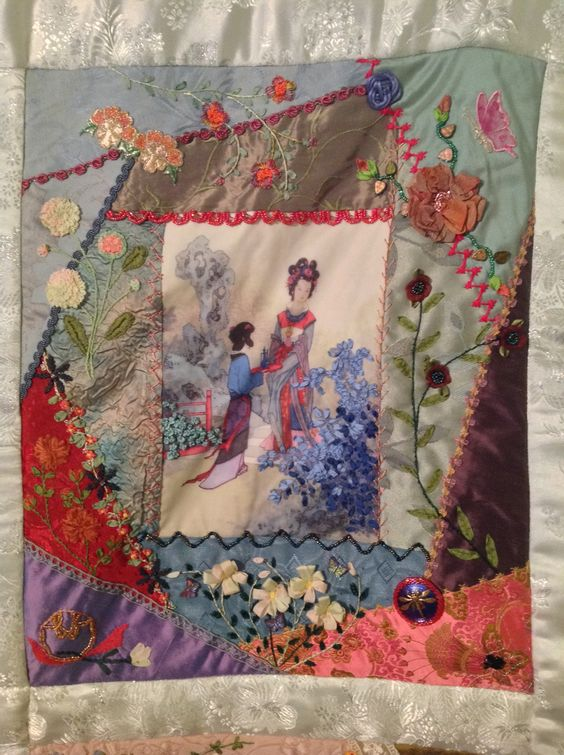 Block 3...Asian Riches...Design by Gloria McKinnon...stitched by Avis Withers