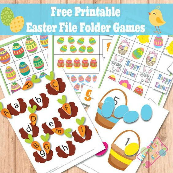 Easter worksheets lower case letters and activity games for Free file folder game templates