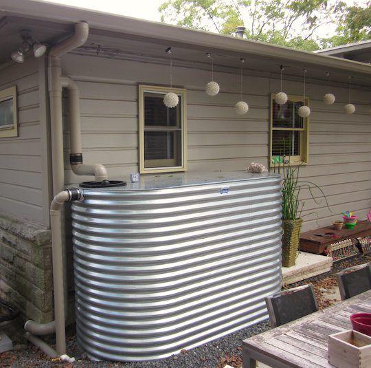 Giant rain barrels: