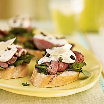 even the man would love these... seared beef tenderloin mini sandwiches with mustard-horseradish sauce