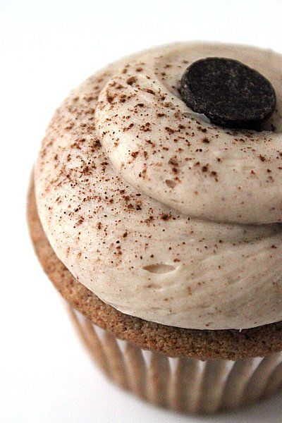 Very Mild , slightly sweet.  Nice change to a normal cupcake.