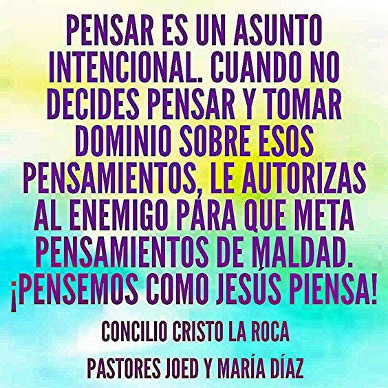 ¡Pensemos como Jesús piensa!