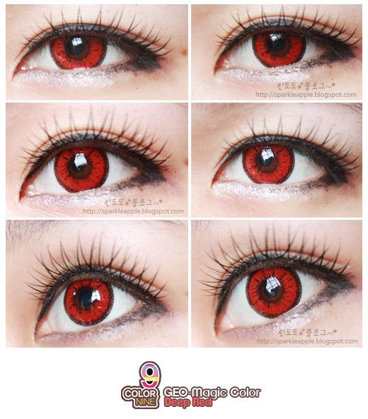 COLORED CONTACTS. Authentic GEO cosmetic contact lenses ...