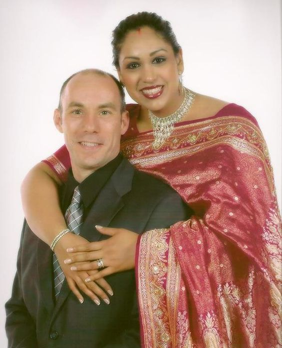 "Indian + Italian! -->    ""My husband and are coming up on our 5 year anniversary (July 26th). I am of Indian decent, and he is Italian. We had a traditional Indian ceremony. Recently, we just delivered our 3rd child on June 26th."" -- Malasri"