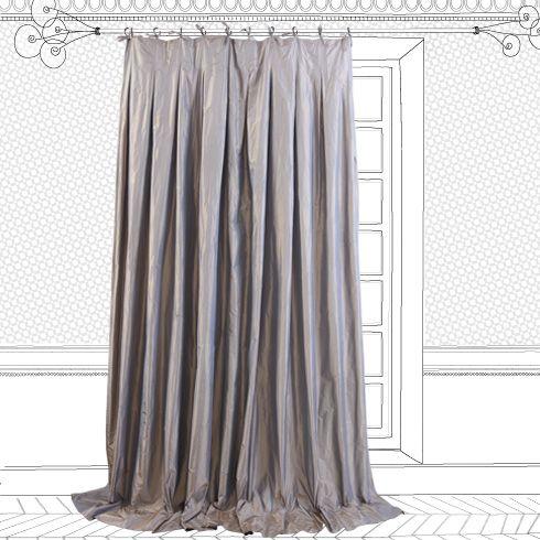 le monde sauvage rideau taffetas de soie my home pinterest rideaux d 39 argent produits et. Black Bedroom Furniture Sets. Home Design Ideas