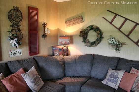 Creative Country Mom's Garden: Flea Market Style in our Farmhouse Family Room