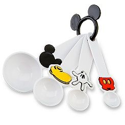 Mickey Mouse measuring spoons.  Cute.