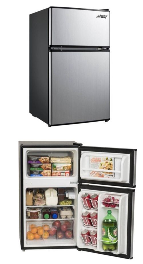 Mini Fridges 71262 Stainless Steel Refrigerator Small Freezer