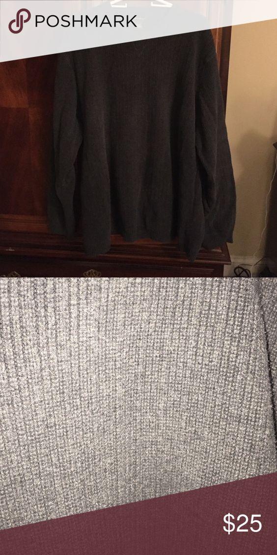 Eddie Bauer 3xlT grey sweater Eddie Bauer 3XL tall grey sweater Eddie Bauer Sweaters Crewneck