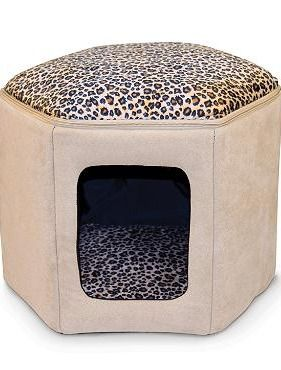 Your cat will love having their own cozy place to nap and rest in the stylish Kitty Sleephouse that also offers a place to perch up top.