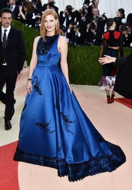 Mandatory Credit: Photo by Andrew H. Walker/REX/Shutterstock (5669035le) Jessica Chastain The Metropolitan Museum of Art's COSTUME INSTITUTE Benefit Celebrating the Opening of Manus x Machina: Fashion in an Age of Technology, Arrivals, The Metropolitan Museum of Art, NYC, New York, America - 02 May 2016:
