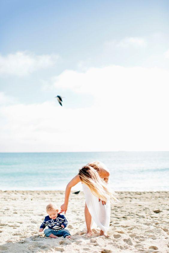 Beach Portrait Sessions | A Mother Baby Portrait Session in Miami Beach by Cassandra Eldridge of Cassandra Photo