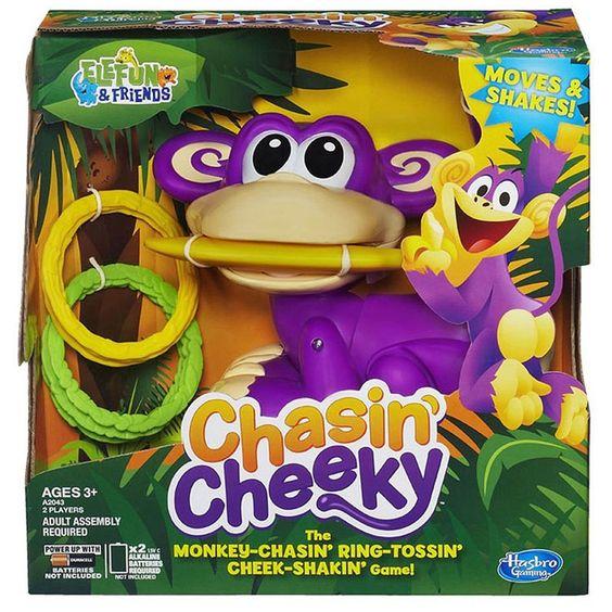 Hasbro Chasin' Cheeky Elefun & Friends Toss Game Ages 3+ NIB Moves & Shakes FUN! #Hasbro