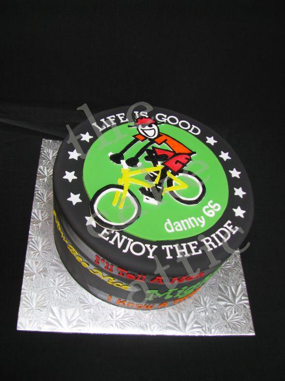Life is good fondant cake. By thecakeattic.com in Salisbury, NC www.facebook.com/thecakeattic