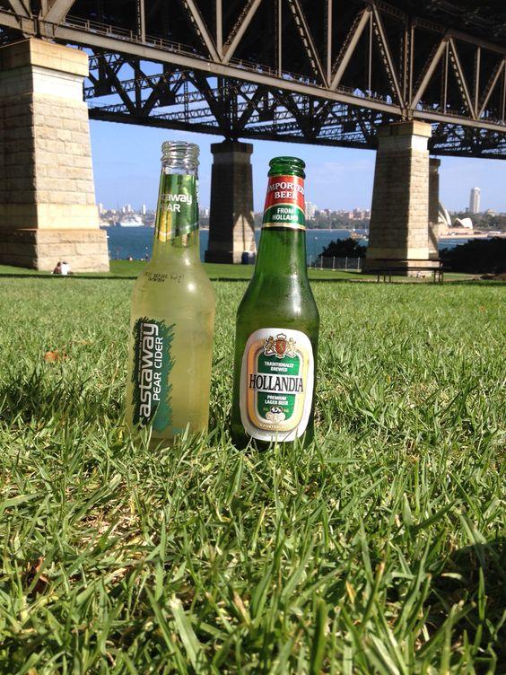 Hoe tof.... Dit biertje in Australië drinken... Meer heb je toch niet nodig