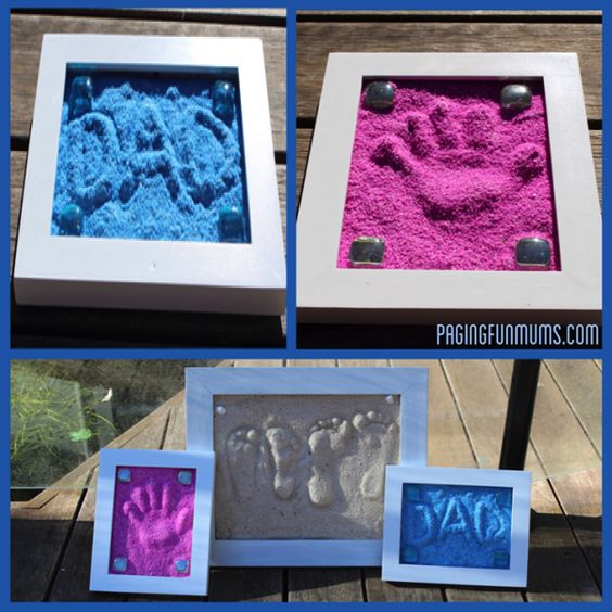 Diy easy to make sand imprints find fun art projects to for Fun at home projects