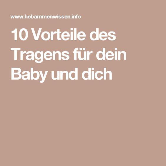 10 Vorteile des Tragens für dein Baby und dich