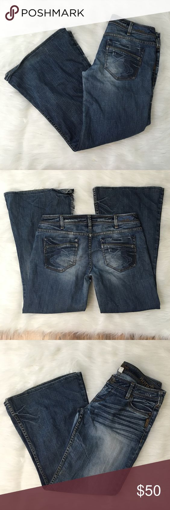Bondi Silver Jeans Good used condition silver jeans women&39s size