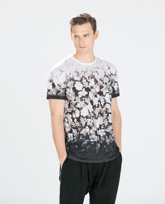 Homme Fleur Zara Tee Shirt Zara Tee bf7g6