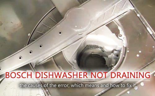 Bosch Dishwasher Not Draining