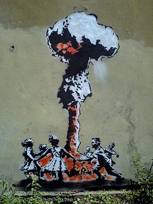 Бэнкси - граффити ядерный гриб