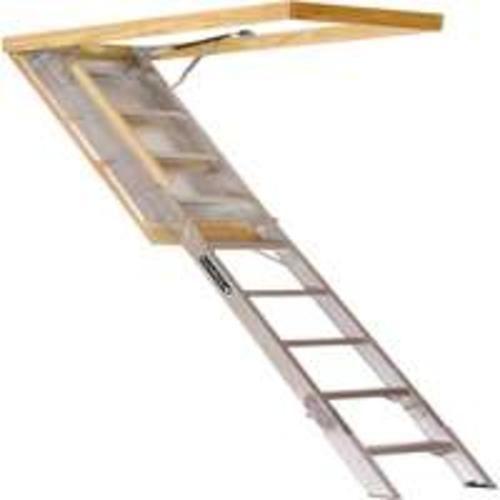 Louisville Ladder Aa259gs 25 5x54 Aluminum Attic Stairs Attic Renovation Attic Stairs