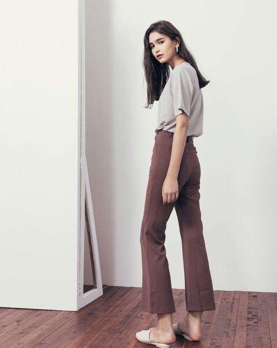 俐落時髦喇叭西裝長褲|女裝|MEIER.Q