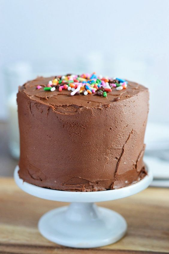 Mini Chocolate Layer Cake Recipe from What The Fork Food Blog. These gluten free and dairy free cakes are the perfect small batch dessert for those with special dietary needs. They're also the perfect size for cake smash sessions. | whattheforkfoodblog.com: