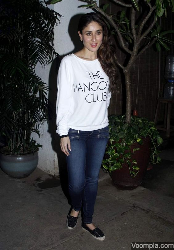 Ranbir-Katrina and Saif-Kareena at Phantom screening | Kareena kapoor Blue and Sweatshirts