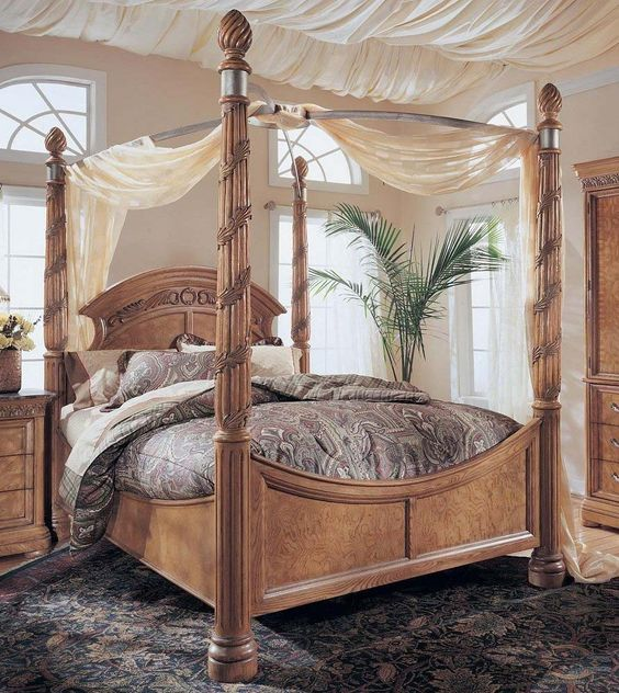 Bedroom Furniture South Africa Bedroom Curtain Ideas Small Windows Black Hardwood Flooring Bedroom Bedroom Colour Trends 2017: King Size Wynwood Canopy Bed