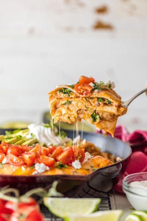 CHICKEN ENCHILADA SKILLET PIEReally nice recipes. Every  Mein Blog: Alles rund um die Themen Genuss & Geschmack  Kochen Backen Braten Vorspeisen Hauptgerichte und Desserts # Hashtag