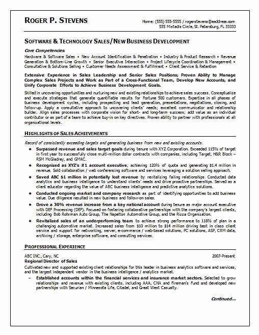 20 Business Development Representative Resume In 2020 Sales