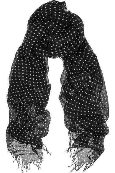 Chan Luu | Schal aus einer Kaschmir-Seidenmischung mit Polka-Dots | NET-A-PORTER.COM