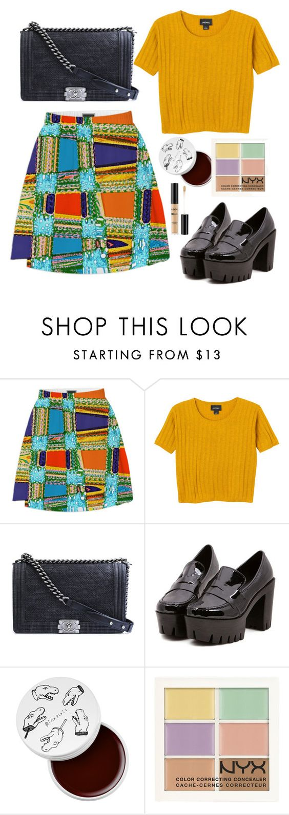 """Untitled #215"" by dlnphung ❤ liked on Polyvore featuring Monki, Chanel, too cool for school and NYX"