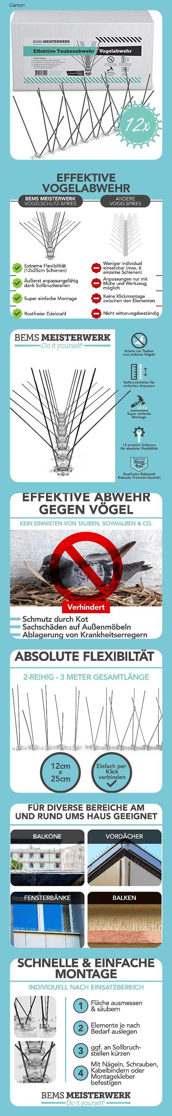 Bems Meisterwerk Effektive Taubenabwehr Und Vogelabwehr Mit