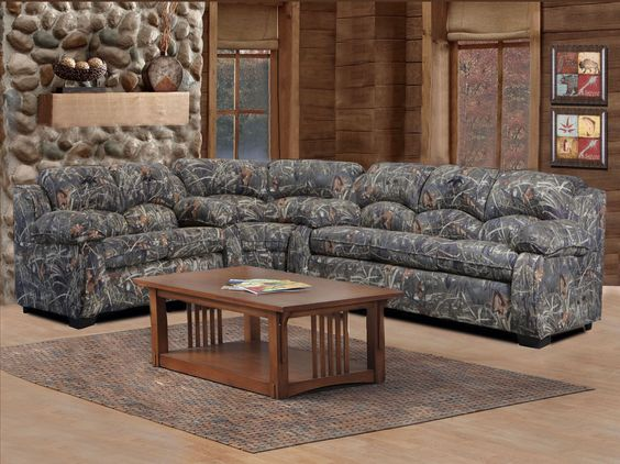 Duck Commander Sectional 3 Piece (Sofa, Loveseat And Wedge - Duck