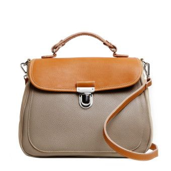 Roots Madame Bag in Dune/Shell