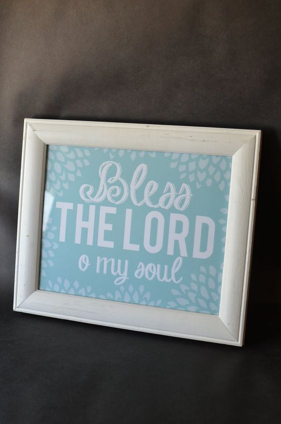 "Crosswords Paper Co. >>> Hymn Lyric Wall Art - ""Bless the Lord O My Soul"""