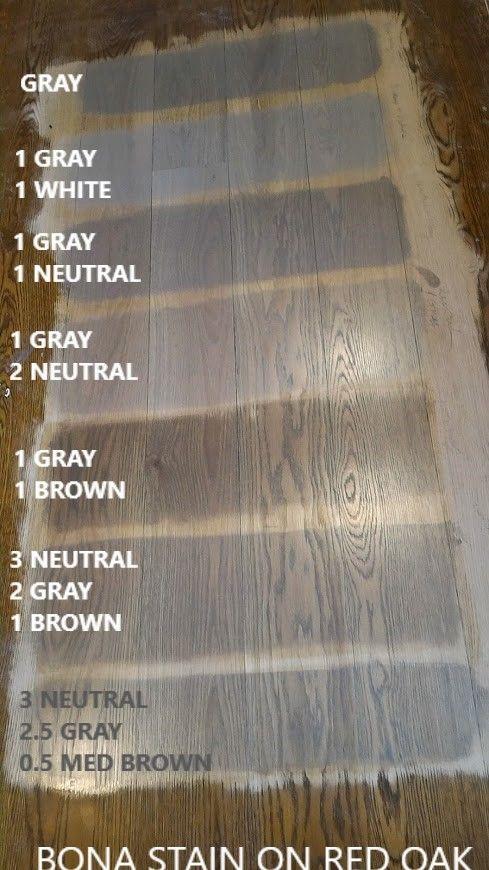 Bona Stains On Red Oak Flooring Finish Is Bona Traffic Satin Grey Stained Wood Red Oak Floors Staining Wood Floors