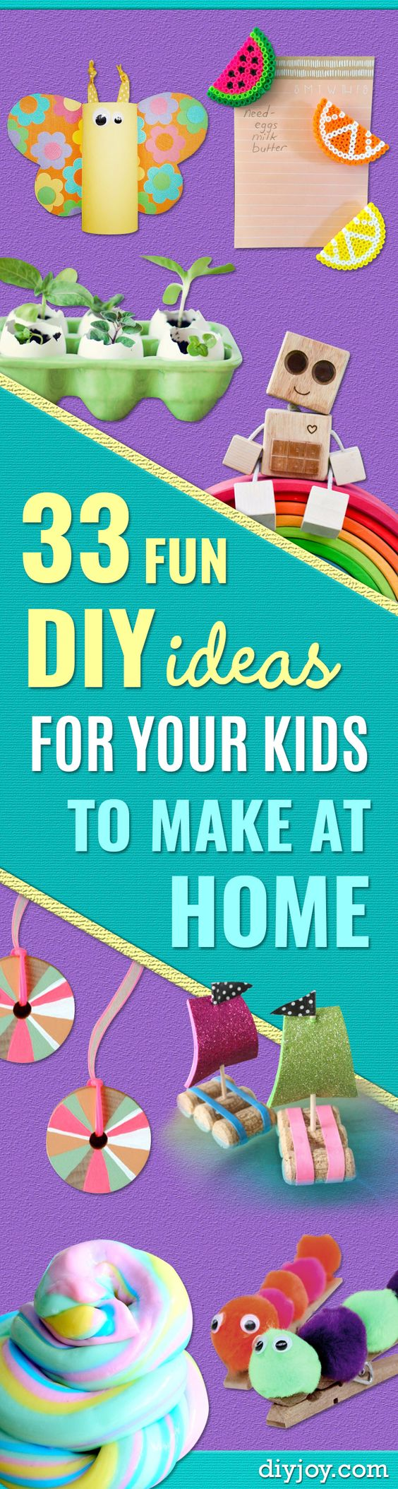 Craft Ideas for Children - Cute Paper Crafts, Fall and Winter Fun, Things For Toddlers, Babies, Boys and Girls to Make At Home http://diyjoy.com/diy-ideas-for-kids-to-make:
