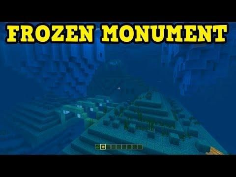 New Minecraft Frozen Ocean Monument Aquatic Update Seed With
