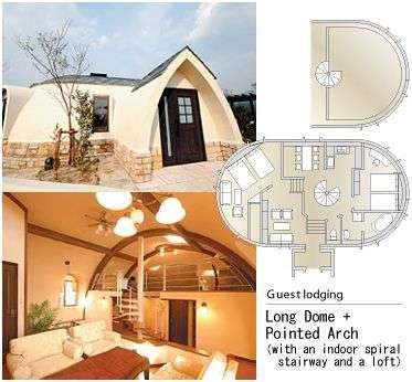 Dome house guest houses and house on pinterest for Japan dome house price