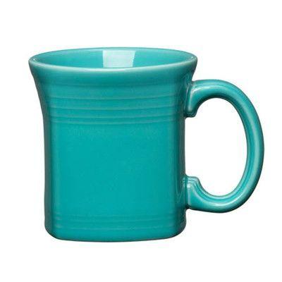 Fiesta 13 oz. Square Mug Color: Turquoise