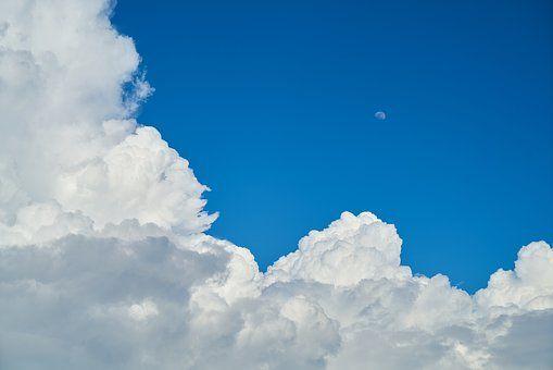 Langit Awan Awan Biru Putih Cuaca Pemandangan Gambar Awan Latar Belakang
