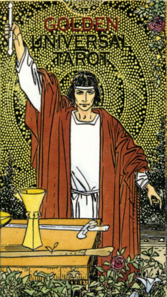 Goldenes Visconti, Klimt, Botticelli, Renaissance, Universal & Zaren Tarot