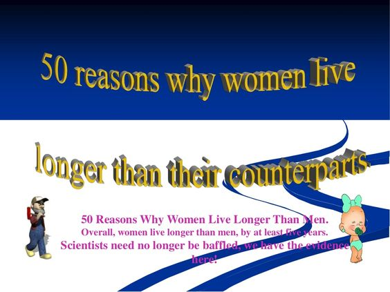 Why women live longer than men. Powerpoint presentation free download by Aleks Kos via slideshare