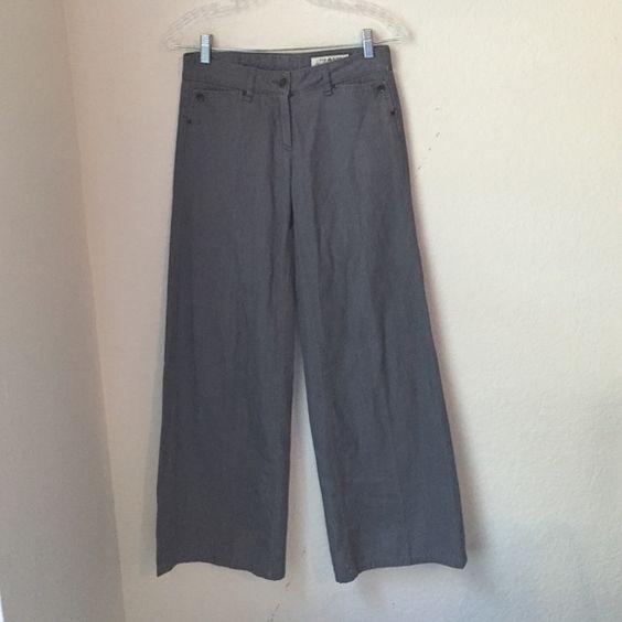 Rag & Bone Wide Leg Pants Grey -handmade in New York  - wideleg rag & bone Jeans Flare & Wide Leg