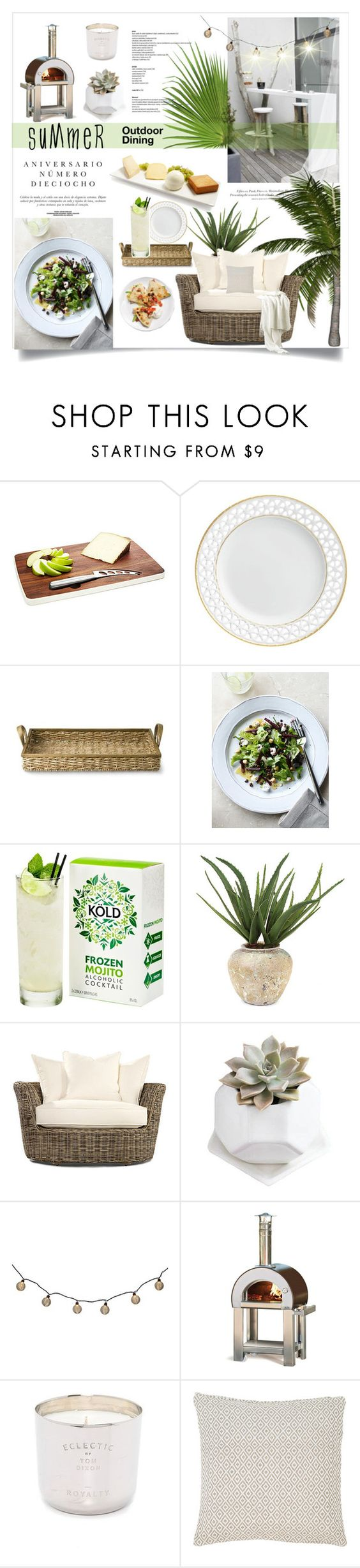 """Summer Outdoor Dining"" by rever-de-paris ❤ liked on Polyvore featuring interior, interiors, interior design, home, home decor, interior decorating, Sinclair, Fürstenberg, Williams-Sonoma and John-Richard"