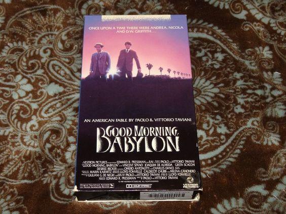 Good Morning, Babylon (VHS, 1988) HTF OOP 1st Vestron/Vincent Spano *NOT ON DVD*